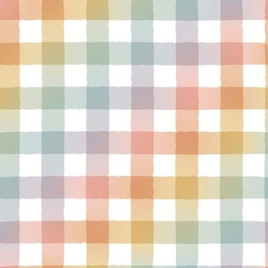 Boho Rainbow Gradient Gingham - Medium Scale