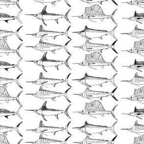 Royal Billfish Slam - Simple black on white background