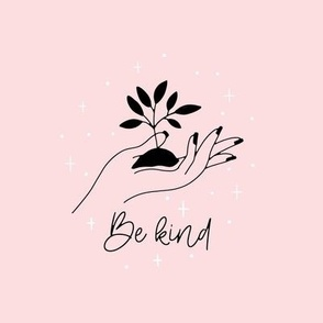 Be kind embroidery template