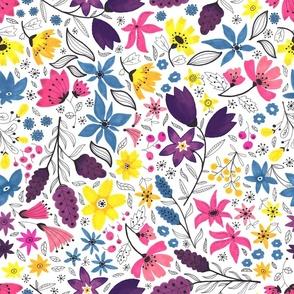 florals hand drawn