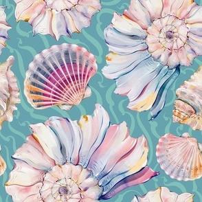 Watercolor Seashells-074