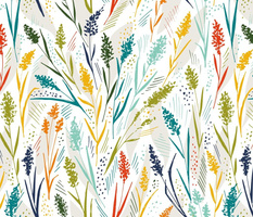 Wild herbs in bright colors in free flight on a light background_ jumbo scale