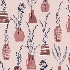 grasses in vases