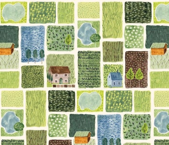 Dutch Landscape with Wild Grasses
