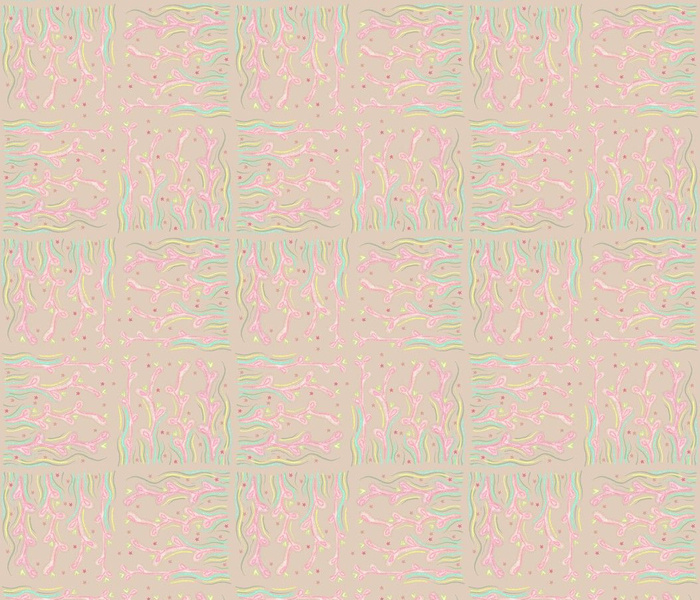 Wild Grasses Pink and Cream Prairie