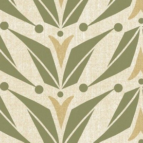 Tulipa_-_floral_geometric_-_ivory_green_-_large_scale