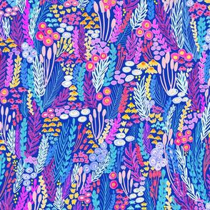 Purple Blue Pink Flower Meadow