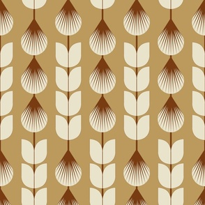 Prairie Nouveau- Wild Grass Head Stripes- Gold- Large Scale