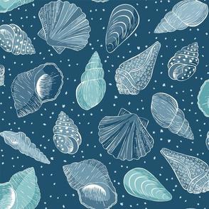Seashells - blue