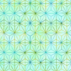 Geo Starburst soft green