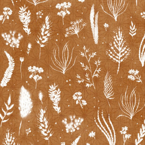 "Wild Grass Shibori (bronze) 21"" large"