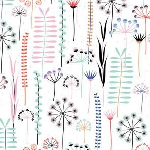 Wild Grasses_Wildflowers-White - Small