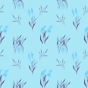 wild grass blue