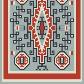 1920s Crystal Style XL Scale Navajo Native American Rug