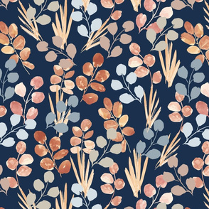 Autumn Grass - Navy