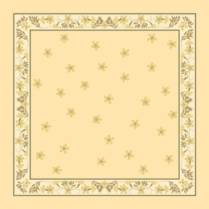 buttery wheat napkin ~ yellow