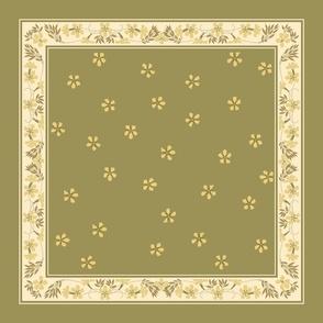 buttery wheat napkin ~green