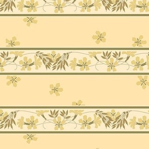 buttery wheat ~stripes and blossoms