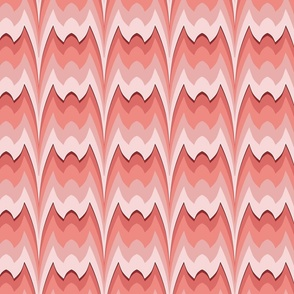 Bargello curved flame stitch coral large