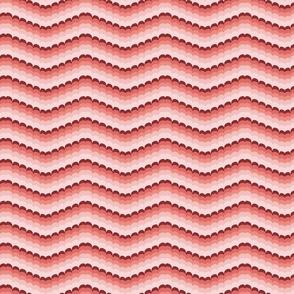 Bargello scallop waves coral small