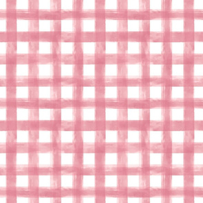 Watercolor Pink Gingham Small