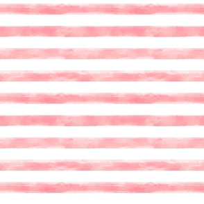 watercolor pink stripes small