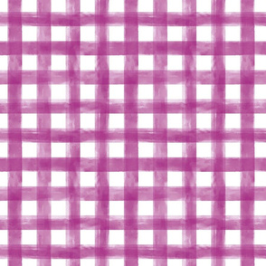 Watercolor Purple Gingham Small