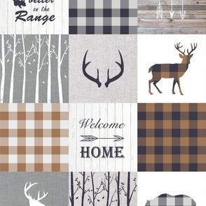 Life is better on the range patchwork in Earth tones