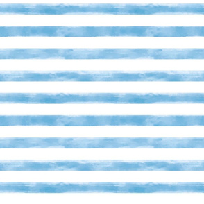 Watercolor Teal Stripes Small