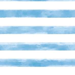Watercolor Teal Stripes