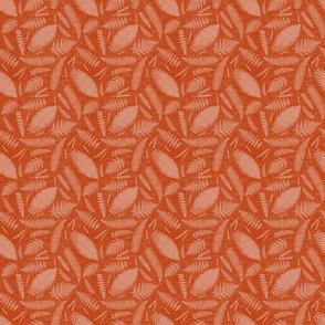 Small scale • Wild grasses and ferns orange