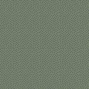 Dots folks - smaller - black over medium green