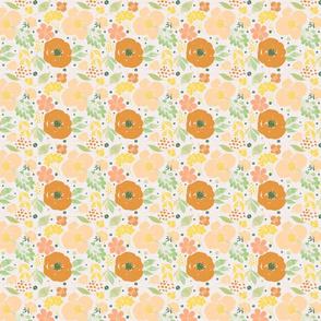 Spring Floral- Orange