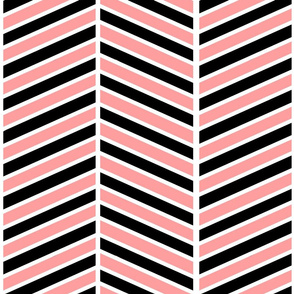 Pink and black chevron