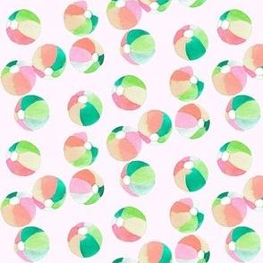 beach ball peach