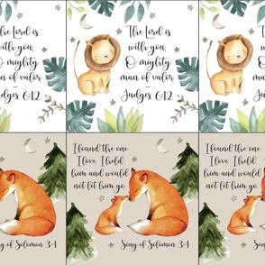 6 loveys: lion + fox