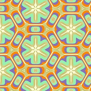 Psychedelic propeller floral  - pastels