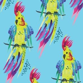 Tropical Papagaio Light Blue