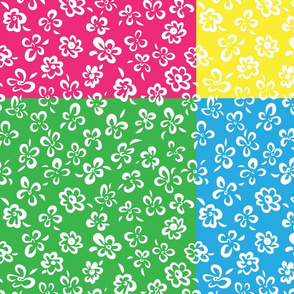 simple floral patchwork