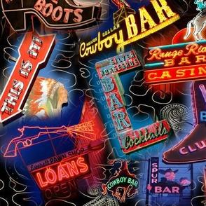 Cowboy Bar Signs