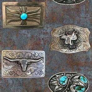 Belt Buckles on corroded steel (soft)