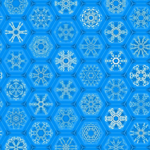 blue snowflake mini-ornaments