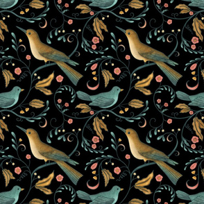 BellaNora black bird art nouveau