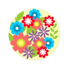 Pretty Flowers Embroidery Pattern SF