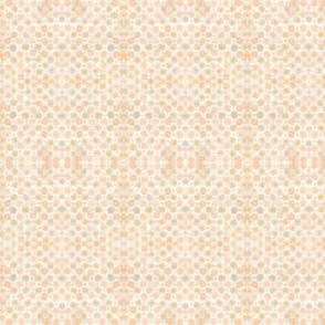 Orange and Grey abstract floral pattern