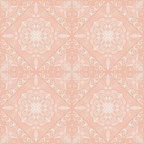 Fie Fi Folksy (coral & white)