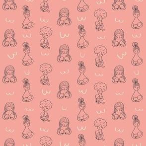 "Breastfeeding coral colourway 6"""