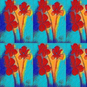 Red Flowers still life