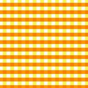 Gingham Orange and Yellow on white