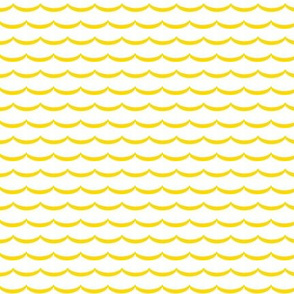 yellow and white scallop, waves. pink and pure white scalloped pattern on fabric, wallpaper and decor.